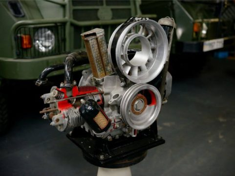 Haflinger Cut Away Engine