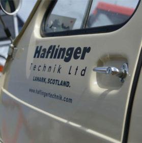Haflinger Poly Cab door