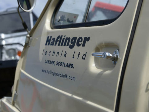 Haflinger Poly Cab door